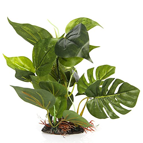 CNZ Aquarium Fish Tank Green Lifelike Underwater Plastic Plant Aquatic Water Grass Decor, 10-inch Tall (Plastic Aquarium Plant)