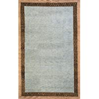 Momeni Rugs DEGABDG-01SLT2680 Desert Gabbeh Collection, 100% Wool Hand Knotted Contemporary Area Rug, 26 x 8 Runner, Slate
