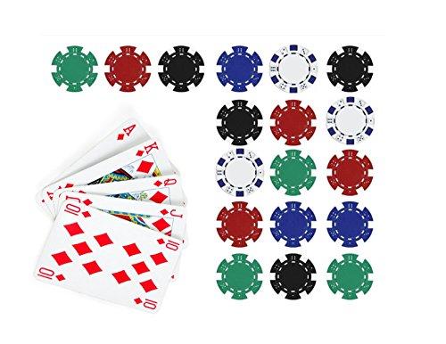 Price comparison product image Poker Edible Cake Topper Royal Flush in Diamonds Cake Topper Casino Chips