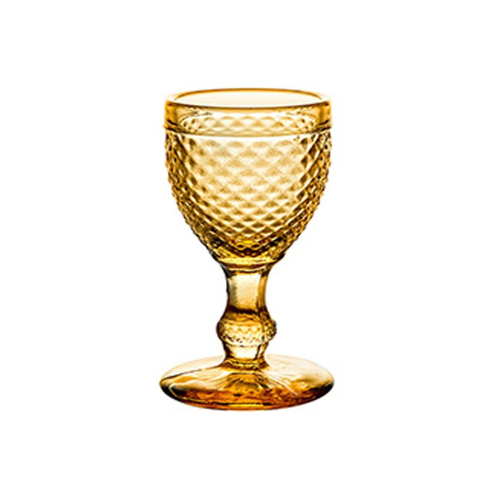 Vista Alegre Bicos Set of 4 Cordial Liqueur Glasses Made In Portugal (Ambar)