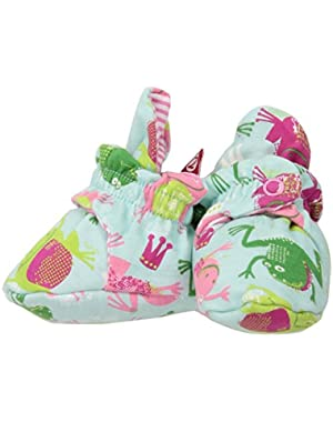 Baby Girls Cotton Bootie, Frog Princess, 3M (0-3 Months)