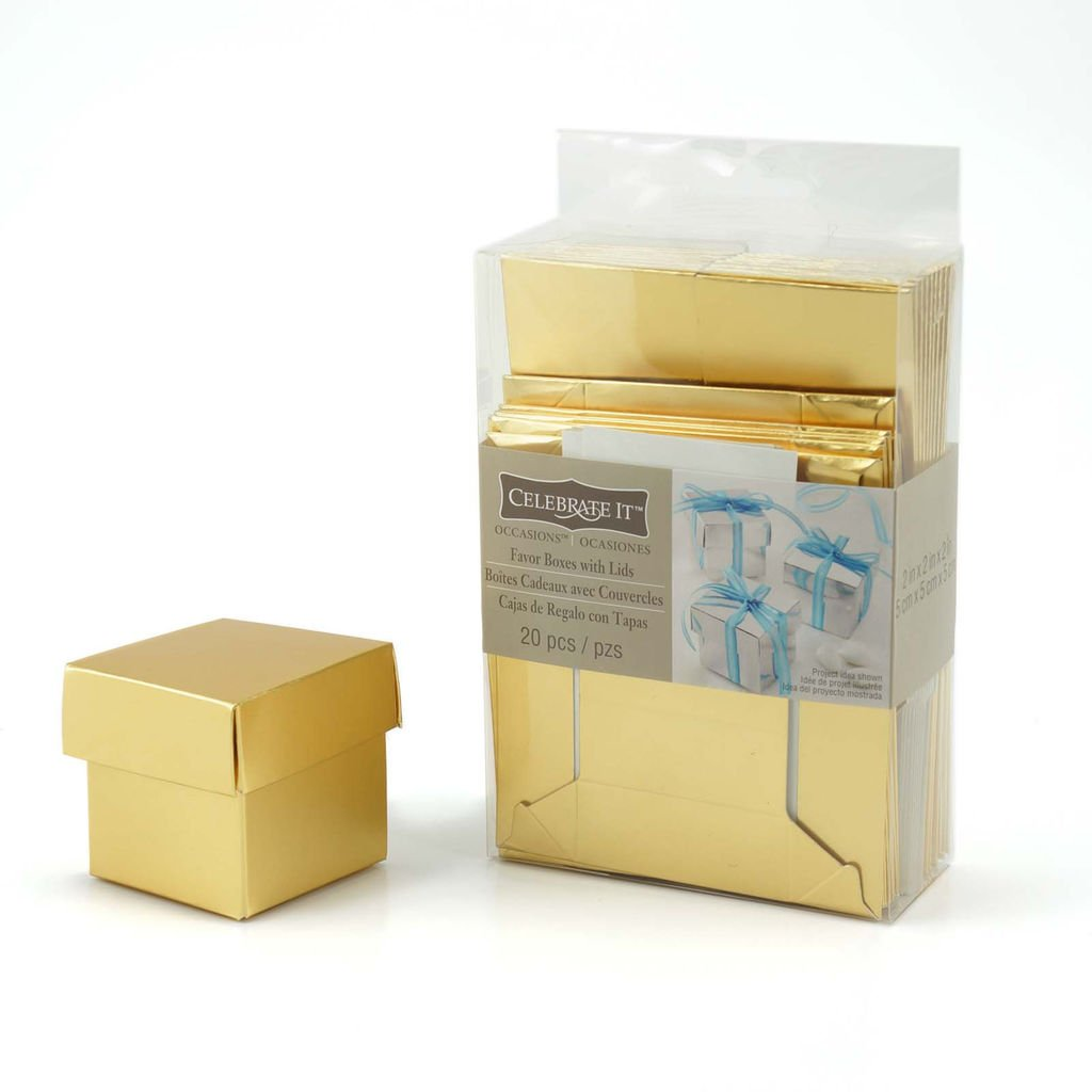 Amazon.com: Golden Favor Boxes with Lids Package of 20: Health & Personal Care