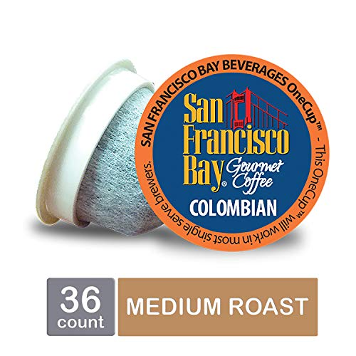 - San Francisco Bay OneCup, Colombian Supremo, Single Serve Coffee K-Cup Pods (36 Count) Keurig Compatible