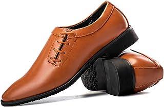 Apragaz Robe décontractée en Cuir Souple pour Homme Style Classique Fait Main Italie Formale Business Oxford, Marron, 43 EU