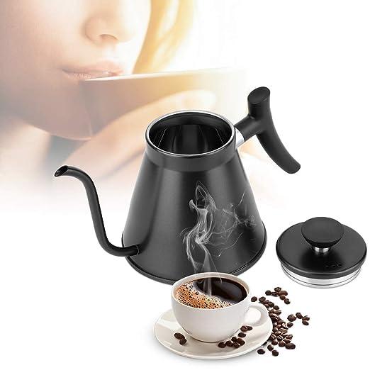 Verter sobre Cafetera Hervidor de agua, 1,2 l de acero inoxidable ...