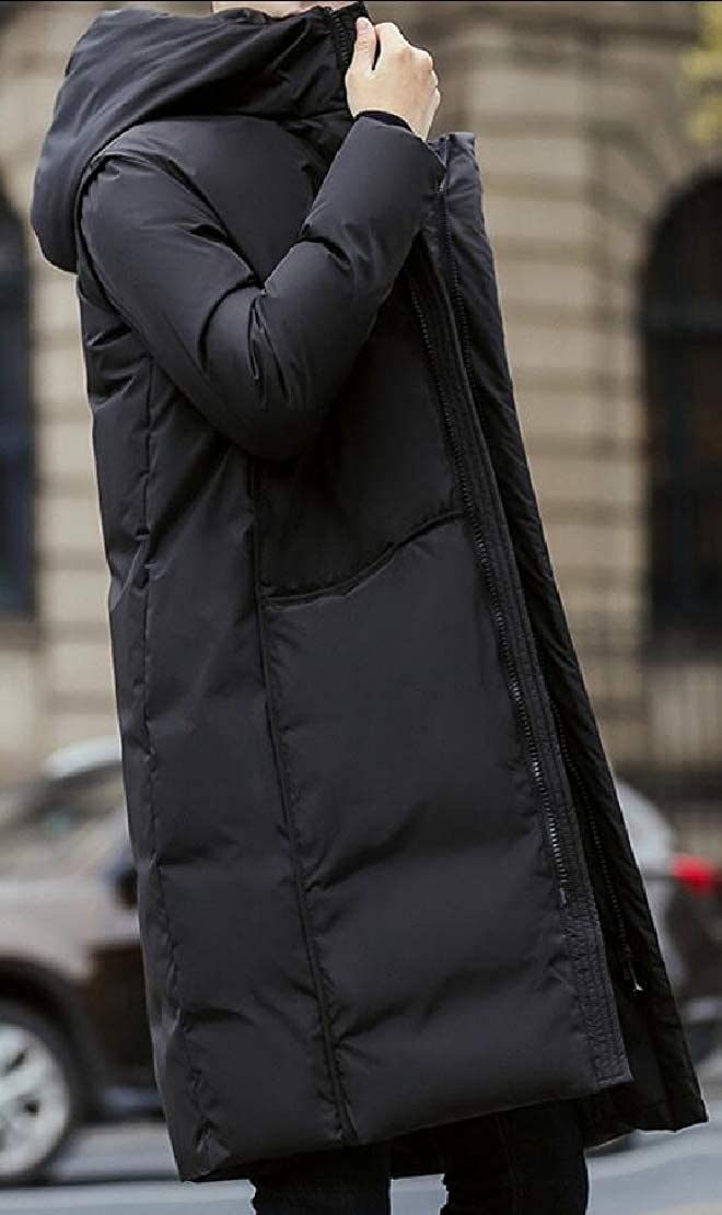 Generic Mens Puffer Long Jacket Packaged Quilted Hooded Long Coats