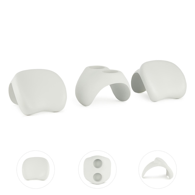 Blumfeldt Face 2 Face Accesorios para SPA Hinchable 2X apoyacabezas portavasos (Piezas de plástico Suave, Apoyo ergonómico, Blanco)