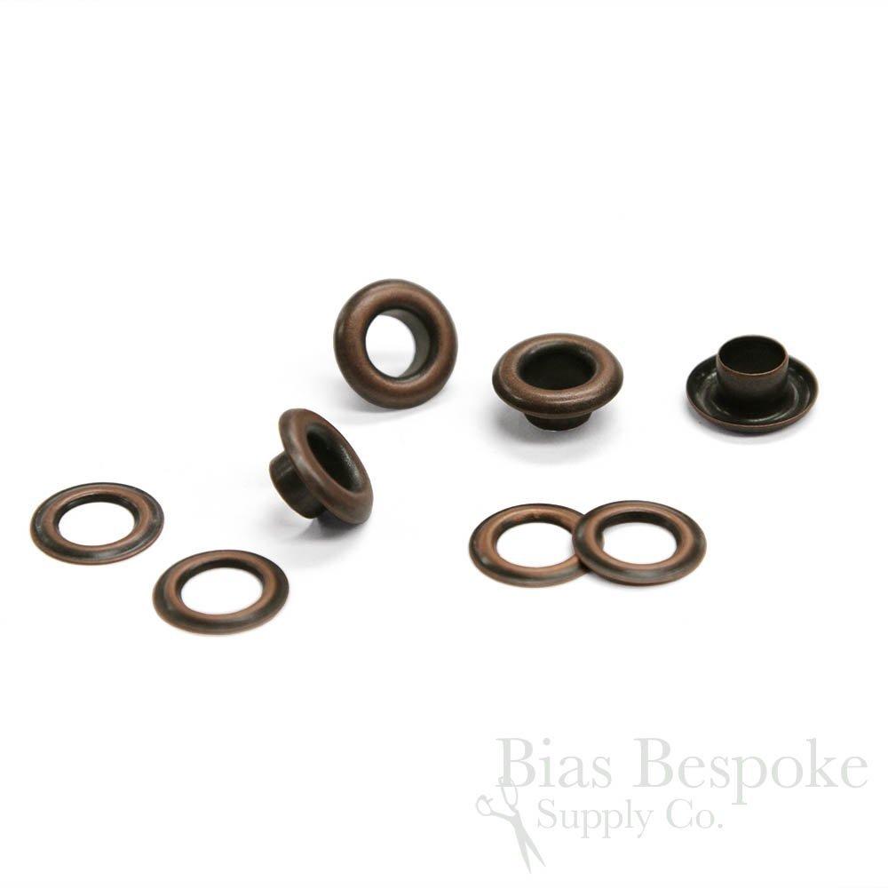 TISH 11.5mm Outside Diameter Grommets Set of 144 Antique Brass