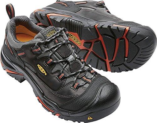 KEEN Utility Men's Braddock Low Steel-Toed Boot,Black/Bossa Nova,10.5 D US by KEEN Utility (Image #3)
