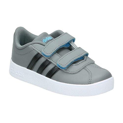 reputable site 65dbc d1443 adidas VL Court 2.0 Cmf i Sneaker Unisex Bimbo, Grigio Grey Four F17 Core