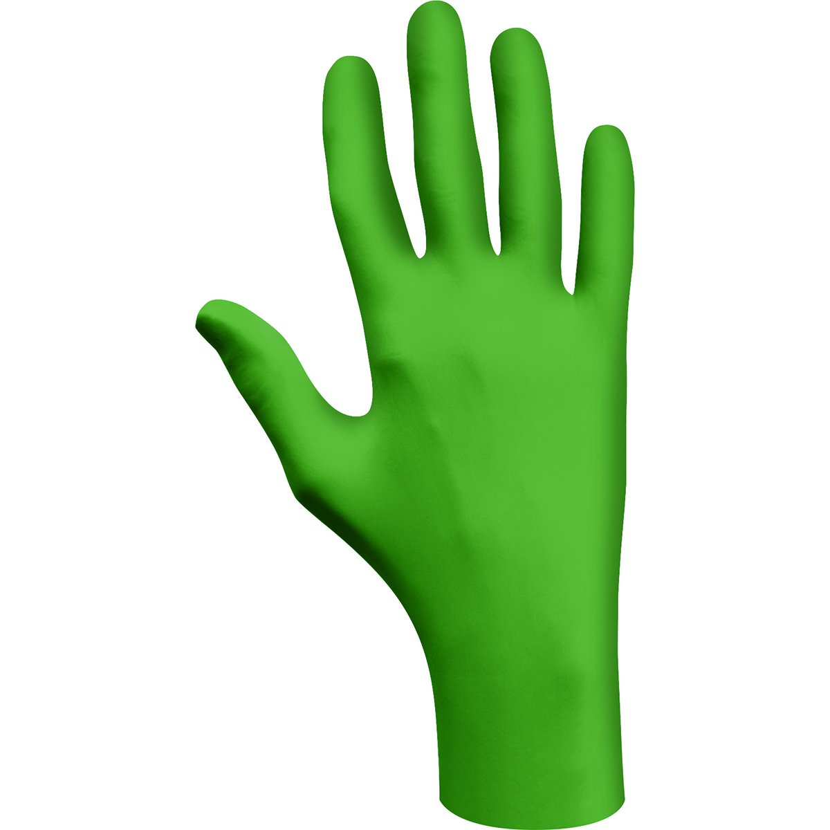 SHOWA 6110PFM GreeN-DEX Biodegradable Industrial Grade Nitrile Glove, Disposable, Powder-Free, 4 mil Thickness (1 box)