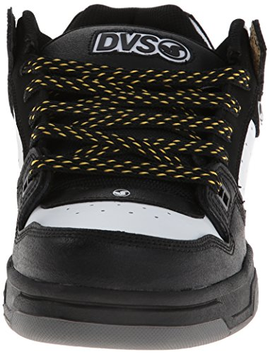 Dvs Mens Militia Heir Lace-up Fashion Sneaker Nero / Bianco Nabuk