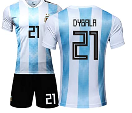 newest collection 38b50 dd68d Amazon.com: LISIMKE 2018-2019 Home Dybala #21 Argentina Kids ...