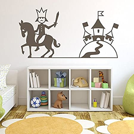 azutura king knight wall sticker castle wall decal boys bedroom home decor available in 5 sizes