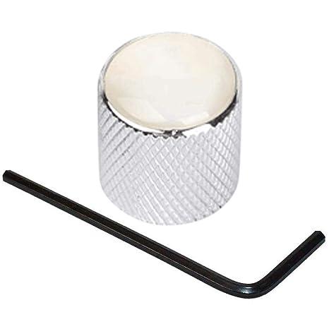 Metal con Control de volumen para guitarra baja botones de cúpula botones de Control de tono