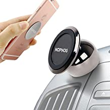 NOPNOG Magnetic Car Cell Phone Mount Holder Universal Dashboard Stand Solid Sleek Modern 360 Degree Rotation Uber Safe Drive GPS Pop for iPhone 7/7Plus/6/6S Plus Samsung Galaxy S7 / S6 Moto LG Smartphone