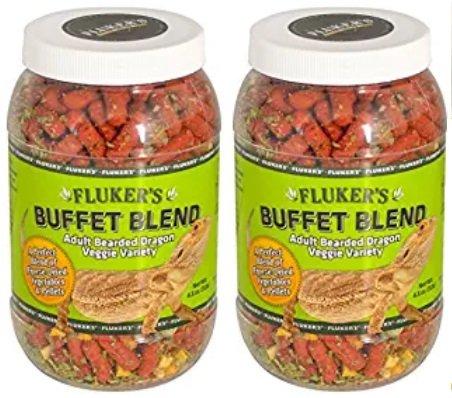 5 oz (2pack) Flukers 1 Piece Adult Bearded Dragon Veggie Variety Diet, 4.5 Ounces