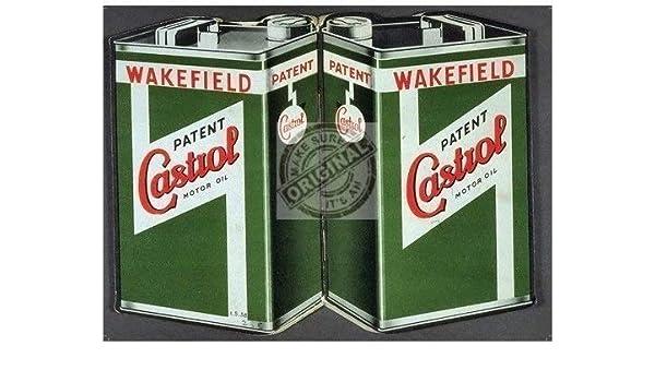 Castrol Aceite de motor latas. para bicicleta, motor coche, barco, motores Carreras Coches Antigua Retro Vintage para casa, casa, TALLER, ...