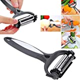 Hot 3 in 1 Rotary Fruit Vegetable Carrot Potato Peeler Cutter Slicer New