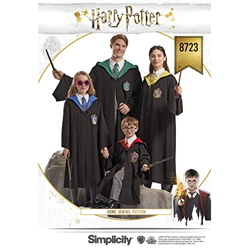 Family Crafts Halloween Costumes (Simplicity 8723 Harry Potter Cosplay and Halloween Costume Sewing Pattern, Kids Teens and Adult Sizes)