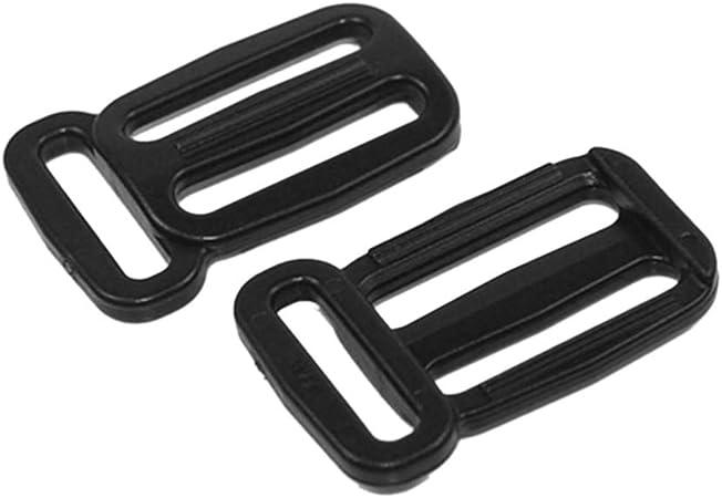 Triglides 25 Pieces of 12 Black Plastic DIY Dog Collar Handbag Purse Backpack Hardware