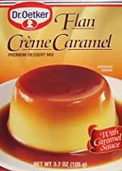 A rich, smooth and delicious dessert choice. The French originally created this wonderful dessert - Crème Caramel - also known in the Hispanic community as Flan. Oetker offers an easy to make package mix with the Caramel Sauce included. You will need...