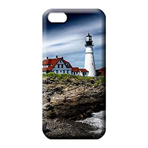iphone 5 5s Shatterproof Unique Awesome Look mobile phone cases beautiful lighthouse on the rocks
