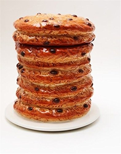 Ky & Co YesKela 8 Inch Giant Stacked Chocolate Chip Cookies Ceramic Jar Figurine -