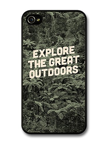 Inspirational Explore the Great Outdoors with Forest Trees Design case for iPhone 4 4S