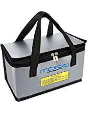 MoKo Fireproof Explosionproof Battery Safe Bag, Storage Guard Safe Sleeve Bag for Lipo Battery Storage and Charging, Zipper Closure for Maximum Protection, Silver