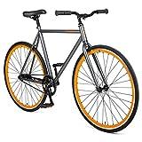 Retrospec Harper Single-Speed Fixie Style Commuter Bike Graphite/Orange