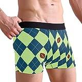 CATSDER Seahawks Seattle Football Argyle Boxer Briefs Men's Underwear Pack Seamless Comfort Soft