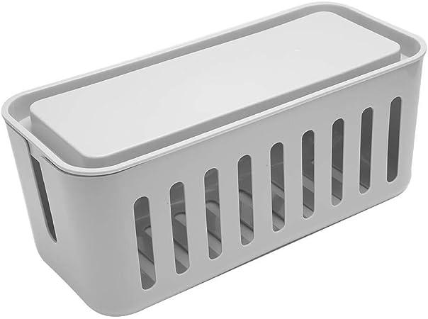 Caja de administración de cables de cocina doméstica Organizador de cuerda TV de videojuegos de pared Cable de computadora Cable de alimentación de cocina Soporte de almacenamiento Caja de cable(gris): Amazon.es: Hogar