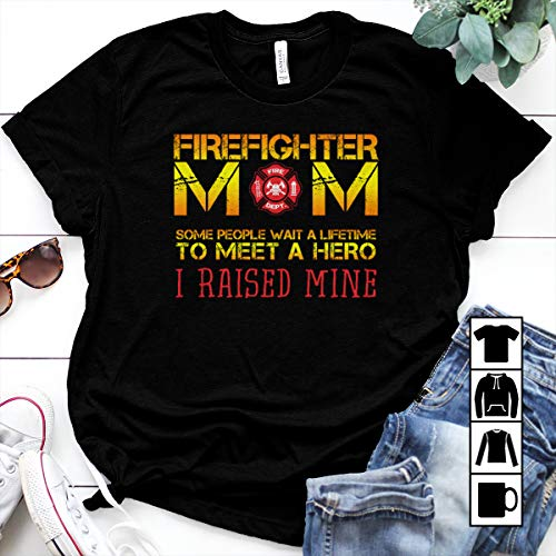 Fireman Youth T-shirt - Firefighter Firefighter Mom Thin Red Line Fireman Hero Raised T Shirt Long Sleeve Sweatshirt Hoodie Youth