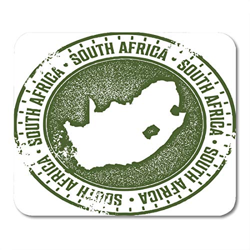 """Emvency Mouse Pads Map African South Africa Country Stamp Passport Town Cape Mouse Pad for notebooks, Desktop Computers mats 9.5"""" x 7.9"""" Office Supplies"""