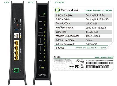 ZyXEL C3000Z Modem CenturyLink (Nat Spi Firewalls)
