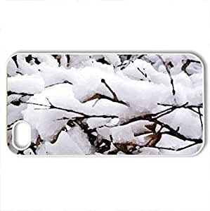 A Blanket Of White - Case Cover for iPhone 4 and 4s (Winter Series, Watercolor style, White)