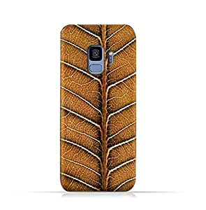 Samsung Galaxy S9 TPU Silicone Protective Case with Natural Dried Leaf