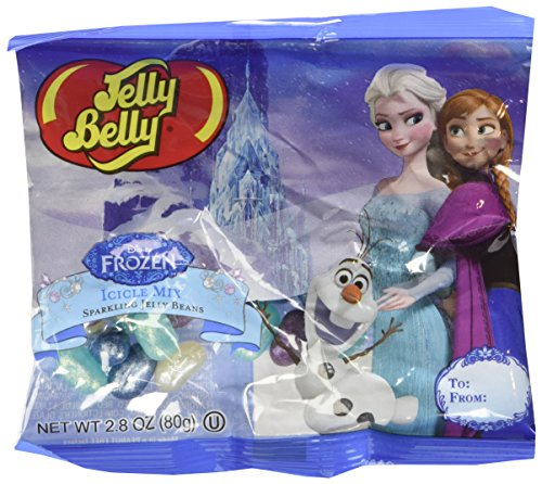 Jelly Belly Disney Frozen Icicle Mix Sparkling Jelly Beans - 2.8 OZ. Bag (2 Bags)