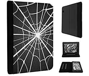 """788 - Spider Web Design Amazon Kindle Voyage 6"""" 2014-2015 Models Fashion Trend TPU Leather Flip Case Protective Purse Pouch Book Style Defender Stand Cover"""