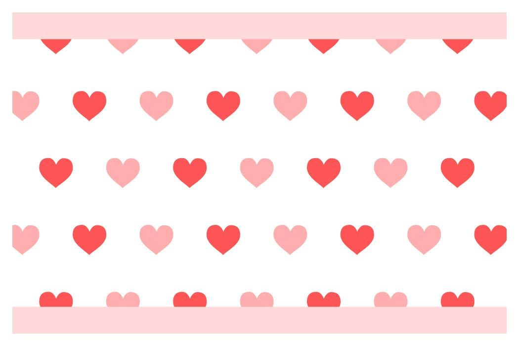I-love-Wandtattoo b-10182 - Bordo decorativo adesivo da parete, cuore, per la cucina, il soggiorno, la camera dei bambini, 5 m