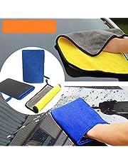 STARPIA Klei Mitt + Professionele Pluche Dual-Purpose Microvezel Auto Schoonmaken Handdoek, Clay Bar Mitt Microvezel Klei Handdoek Washandje voor Auto Detailing Klei Bar Alternatieve Novel Detailing Tool