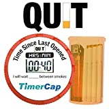 TimerCap Smart Quit Smoking Kit Stopwatch Natural Remedy Includes Cap, Container, Pack & Progress Tracker (1 Pack, Standard)