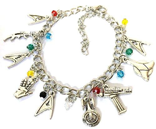Star Trek Charm Bracelet (Silver) (Baby Spock Costume)