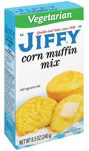 Jiffy Vegetarian Corn Muffin Mix - 8.5 OZ Box - Pack of ()