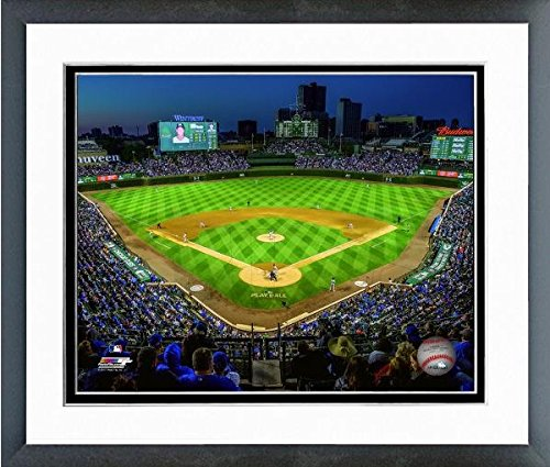 Wrigley Field Framed Pictures - Chicago Cubs Wrigley Field 2017 MLB Stadium Photo (Size: 12.5