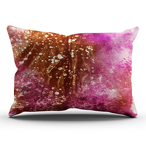 (Fanaing Bedroom Custom Decor Pink and Brown Speckled Cowhide Leather Pillowcase Soft Zippered Throw Pillow Cover Cushion Case Fashion Design One-Side Printed King 20X36 Inches)