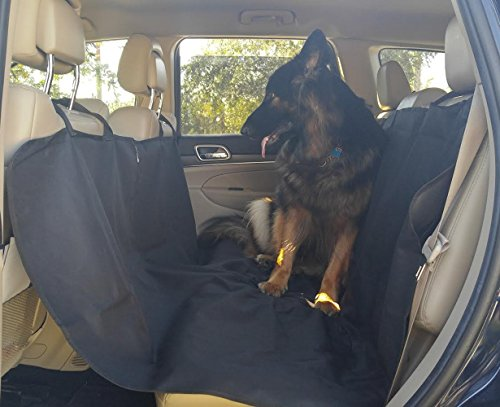 Dog Back Seat Cover - for Pets in SUV's Trucks & Cars - Waterproof & Nonslip Material