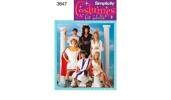 Simplicity 3647 A - Patrones de costura para disfraces de hombre, mujer y joven: Amazon.es: Hogar
