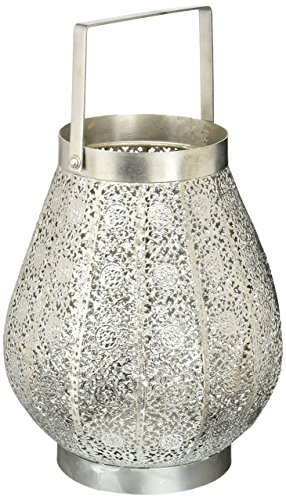 Gallery of Light SILVER LACE DESIGN CANDLE LAMP